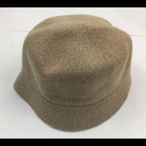 August Hats Cloche Hat Wool Blend Tan Flapper O/S